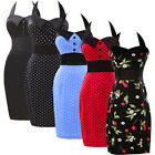 CLEARANCE 1950s 60's Fashion Retro Pinup Pencil Evening Vintage Dress