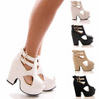 LADIES WOMENS PLATFORM DEMI WEDGE FAUX SUEDE PEEPTOE SANDALS SHOES SIZE 3-8 UK