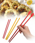Korea Silicone Fried Chopsticks Sticks Kitchen Cooking Tools Stainless Steel New