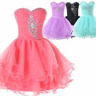 FREE SHIP Graduation Short Party Prom Evening Gown Wedding Bridesmaid Dress 2-16