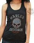 Harley-Davidson Ladies Metal Gates Willie G Skull Graphite Sleeveless Tank Top