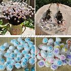 1 Bouquet Artificial Foam Rose Silk Flowers Wedding Party Home Garden Decoration