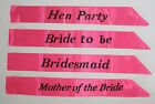 Hen Night Pink Party Sashes Choose Your Design