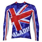 British Flag Cycling Clothing Bicycle Long Sleeve Jersey Top Sportwear Quick Dry