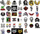 Rock Punk Skeleton Skull Death Fancy Embroidered Sew Iron On Patch Appliques Kit