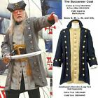 Buccaneer Pirate Coat. Grey or Blue Perfect For Reenactment Stage Costume & LARP