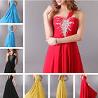FAST  Sexy Formal Ball Long Evening Dress Wedding Bridesmaid Prom Chiffon Dress