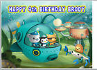 EDIBLE ICING OCTONAUTS OCTONAUGHTS PERSONALISED HAPPY BIRTHDAY NAME CAKE TOPPER