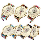 Commitments Pattern Weaved Rope Band Bracelet Quartz Dial Watch Stylish