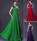 LONDON FAST Long Chiffon One Shoulder Cocktail Party Gown Bridesmaid Dress 6~20