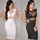 Women's Summer Bodycon Lace Clubbing Evening Sexy Party Cocktail Mini Club Dress