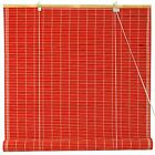 Bamboo Roll Up Blinds - Red