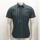 NEW Mens Prada Jacquard Pattern Short Sleeve Shirt GENUINE RRP: £250 BNWT