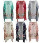 WOMENS BEACH KAFTAN LADIES SUMMER PONCHO COVER UP TOP BUTTERFLY SARONG FREE SIZE