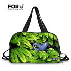 Animal Canvas Travel Luggage Duffle Sport Yoga Fitness Tote Gym Bags Suitcase