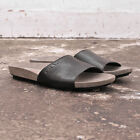 NEW Mens Prada Linea Rossa Black Leather Mule Sandals Flip Flop GENUINE RRP £165
