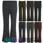 Womens New Floral Printed Palazzos Ladies Flared Wide Leg Trousers Pants Palazzo