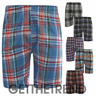 Mens Woven Check Shorts Mens Night Lounge Pants Cotton Sleeping Boxers Trunks