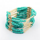 New Fashion Women Bohemia Style 10Colors Handmade Beads Bangle Bracelet FREESHIP