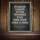 GUEST BOOK SIGN PERSONALISED VINTAGE CHALKBOARD STYLE - RINGMASTER