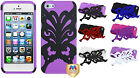 FOR IPHONE 5 / 5S Phone Case Hybrid Cute Butterfly Kisses  Cover Protector