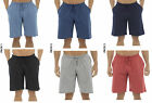 2 PACK Mens 100% Cotton Jersey Lounge Pyjama Bed Shorts Plain Elasticated Waist