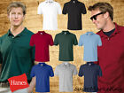 Hanes Mens T Shirt Polo Tee Jersey Golf Sport Shirt with Pocket S - 4XL - 0504 image