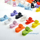 10 Color 20mm KAM Plastic T-Shape Baby Pacifier Badge Holder Dummy Clips Craft