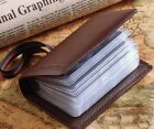 Women's Genuine Leather Name Credit Business Member Card Case Holder teemzone
