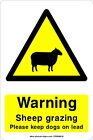 Warning Sheep grazing,  Please keep dogs on lead - COUN0010 stickers & signs