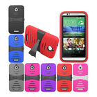 HTC Desire 510 Hybrid Rugged Cover Fitted Skin Case w/ Kickstand Protector
