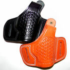 CEBECI ARMS Leather Basketweave Belt Slide Holster with Thumb Break for....