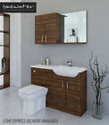 OLIVEWOOD BATHROOM FITTED FURNITURE 1200MM WITH WALL