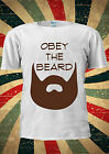 Obey The Beard Funny Moustache T-shirt Vest Top Men Women Unisex 2031