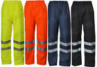 Hi Vis Viz Visibility Work Wear Safety Over Trousers Waterproof Pants