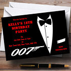 James Bond Theme Personalised Party Invitations £6.95 GBP on eBay