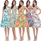RETRO Vintage Dress 1950s Vintage Style Floral Work Wiggle Pinup Ball Gown PLUS+