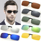 Polarized Clip On Wear Over Sunglasses Glass Spectacle Lens Day Night Driving UK