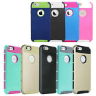 Dual Tone New TPU Rubber Hybrid Case Cover Bumper For Apple iPhone 6 4.7""