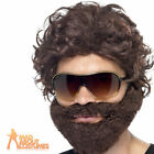 Mens The Hangover Alan Wig Kit Brown Stag Do Fancy Dress Costume Accessory New