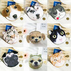 Cute Lovely Dog Cat Face Coin Change Zip Purse Pouch Pocket Mini Hand Bag Wallet