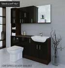 BLACK / MOCHA BATHROOM FITTED FURNITURE 1700MM & WALL & TALL UNIT