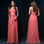 Maternity Long Chiffon Bridesmaid Evening Prom Party Ball Gown Dresses PLUS SIZE