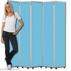 Mobile Concertina Folding Room Divider, 7 panel, 1200mm high, EASY CLEAN!
