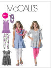 McCalls 6275 Easy Girls Teens Plus Dress Scarf Leggings Pattern 7-16 Yrs M6275