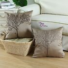 45 x 45cm Vintage Embroidered Tree Cushion Covers Pillows Shells Home Sofa Decor