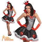 Sexy Queen of Hearts Costume Ladies Fancy Dress Alice in Wonderland Outfit New