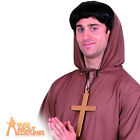 Gold PVC Monks Cross Religious with Black Cord One Size Fancy Dress