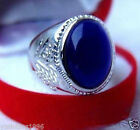 Beautiful Tibet Silver Men's blue Opal Rings size 9-11
