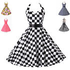 Retro Style Swing 50s 60s Housewife Pinup Swing Vintage Rockabilly Evening Dress